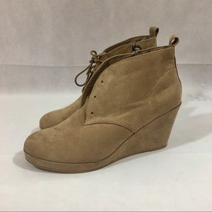 f145151b0939 DV by Dolce Vita Shoes - DV By Dolce Vita Women s Terri Wedge Booties Taupe